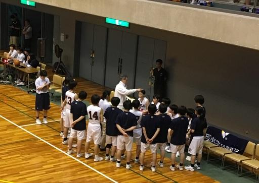 バスケットボール部大阪府下ベスト4!!