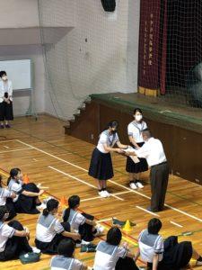 漢字テストの表彰式が行われました