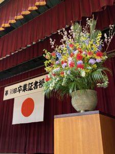 第96回卒業証書授与式が行われました。