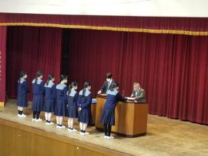 3学期終業式