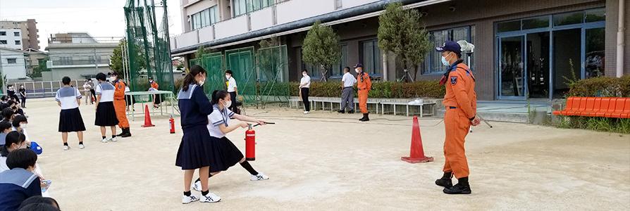 災害避難訓練