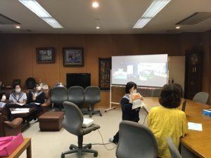 韓国の高校とのオンライン交流