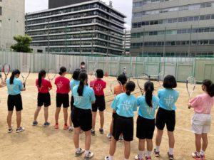 7月10日 ソフトテニス部 出張講座